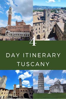 itinerario toscana quattro giorni
