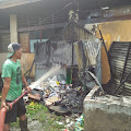 Berawal Dari Bakar Sampah, Gudang Puskesmas Teluk Pinang Hangus Terbakar