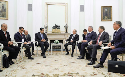 Russian - Venezuelan talks in Moscow. Vladimir Putin and Nicolas Maduro.
