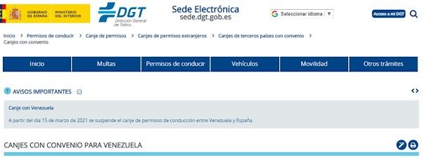 España suspende la homologación de licencias de conducir venezolanas
