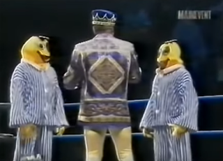WWA - The Inception 2001 - Jerry Lawler confronts the Fruits in Suits