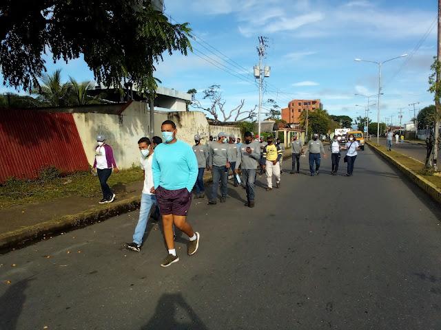 APURE: Trabajadores de Corpoelec realizan caminata para celebrar XIV aniversario.