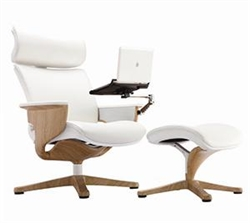 Executive Recliner with Tablet Arm and Ottoman