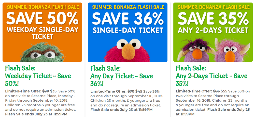 photo regarding Sesame Place Printable Coupons identify Sesame Stage Tickets: Help save up towards 50% upon Admission (sale via