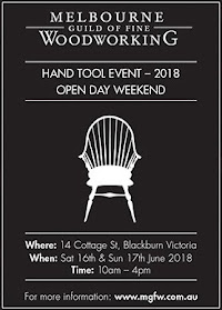 Upcoming Events....Come see me at the Melbourne Guild of Fine Woodworking 2018 Hand Tool Event