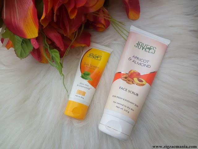 Jovees Sunscreen Fairness Gel SPF-25 And Apricot & Almond Facial Scrub Review