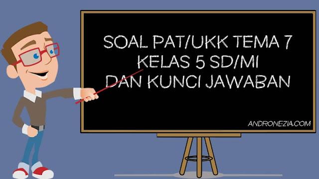 Soal PAT/UKK Tema 7 Kelas 5 Tahun 2021