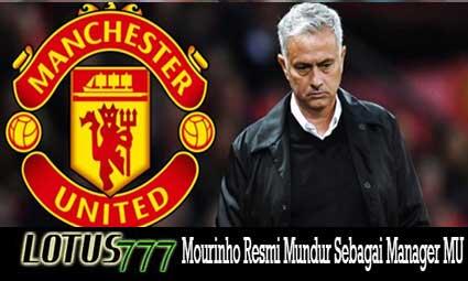 Mourinho Resmi Mundur Sebagai Manager MU