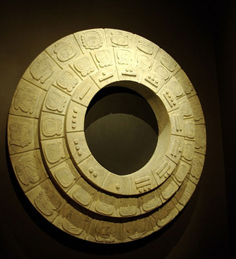 The Plumed Conch Maya Region Round Calendars