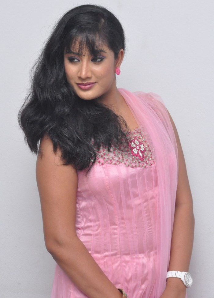 Telugu Tv Actress Sravani Photos In Pink Churidar