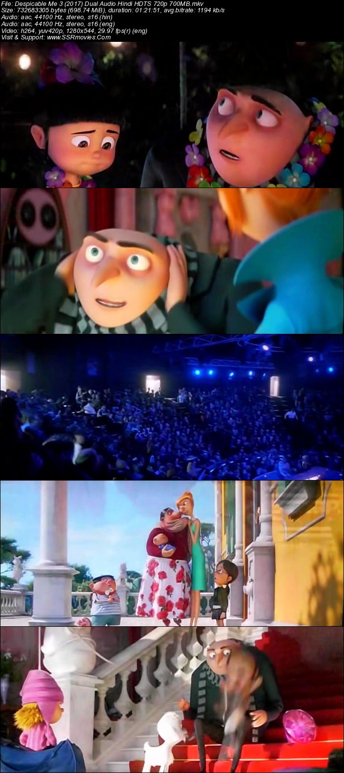 Despicable me 3 2017 movie hdrip hindi dubbed free hd Film hd me