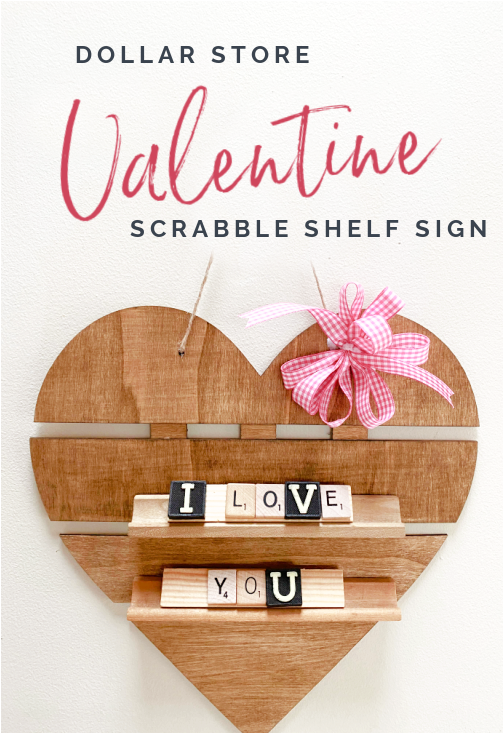 I love you Scrabble letters on heart with overlay