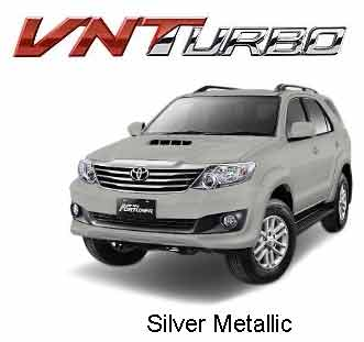 Fortuner Silver Metallic