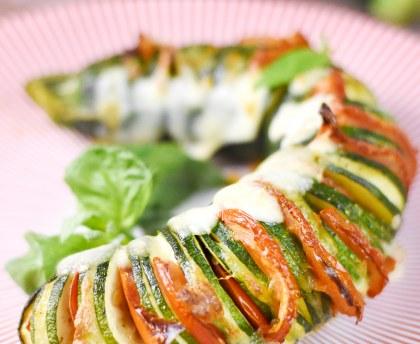 Zucchini Hasselback