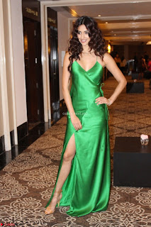 Disha Patani in Beautiful Green Gown at her App Launch 031.JPG