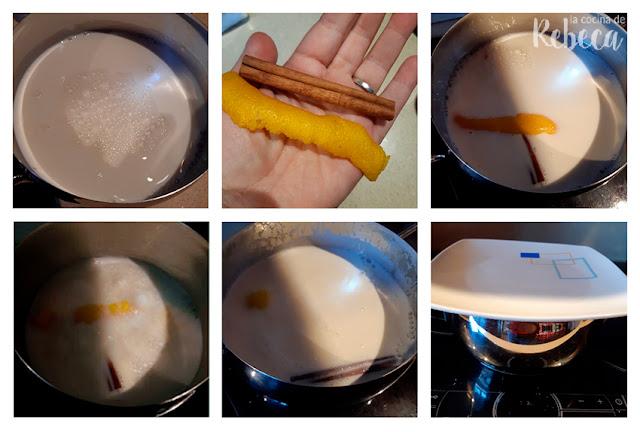 Receta de natillas: aromatizar la leche
