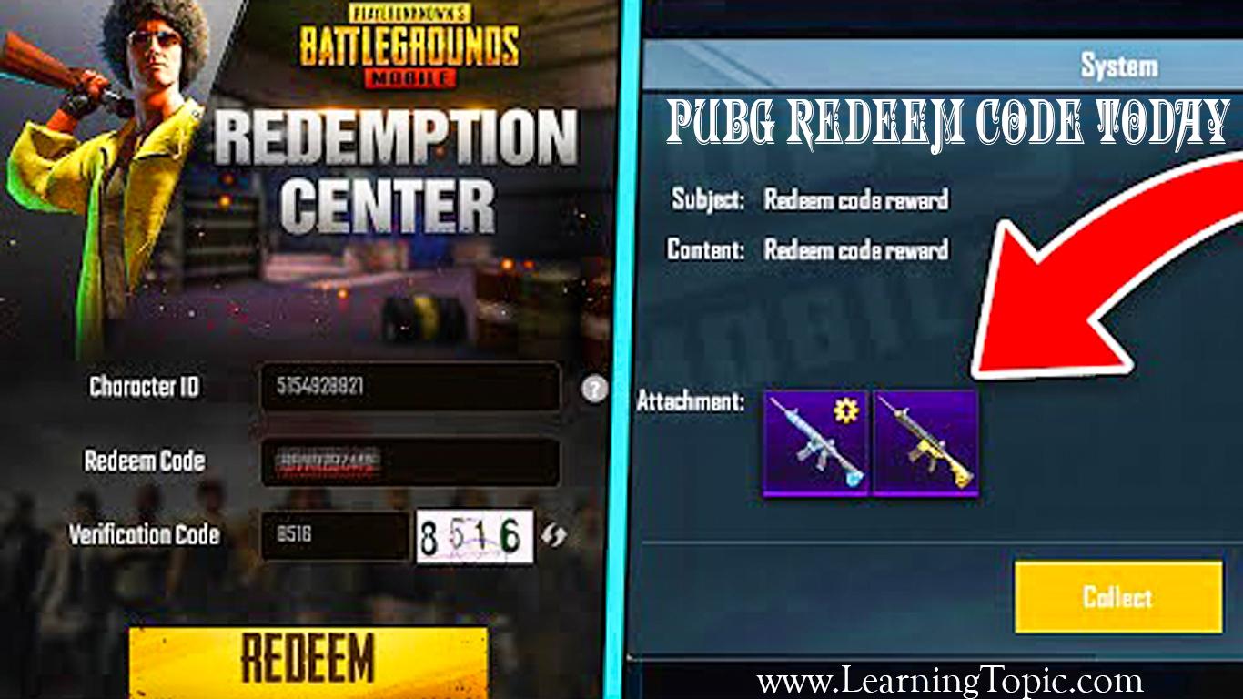PUBG Redeem Code Today || Latest PUBG Mobile Rewards