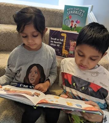 Children reading How Our Skin Sparkles