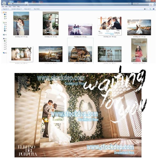 Download bộ vector thiết kế Album cưới file psd cực đẹp