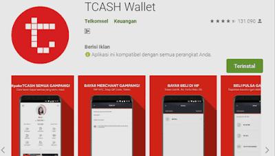 aplikasi tcash wallet untuk menukarkan poin bonus isi pulsa gratis dan internetan gratis