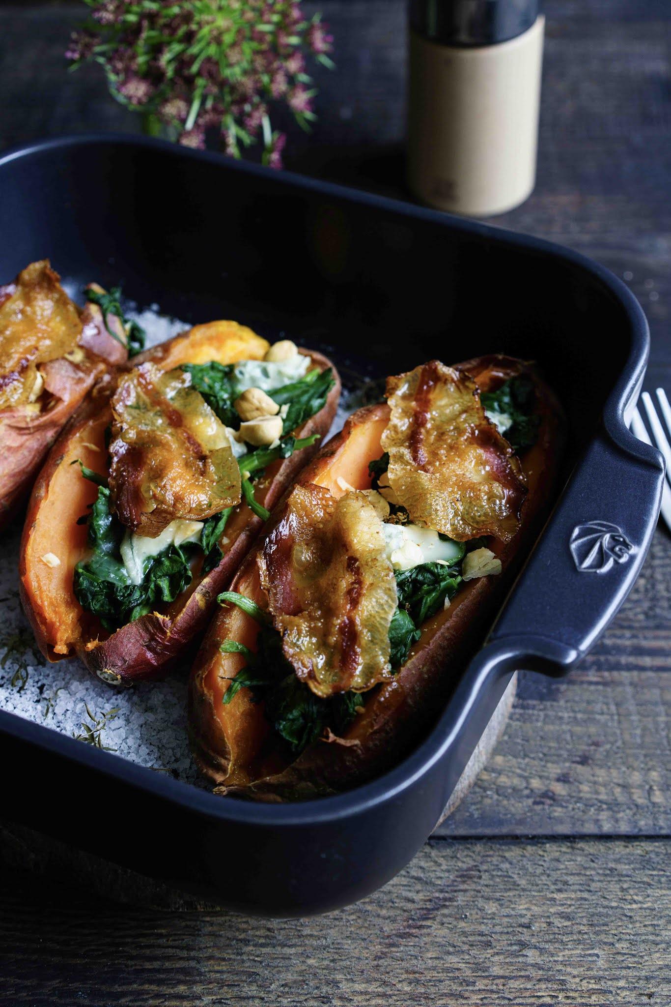 moulin à muscade, patate douce,gorgonzola