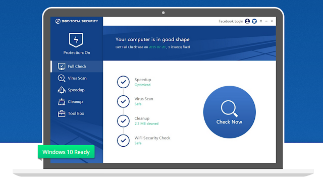 Free Download 360 Total Security 2017 8.2.0.1134 Latest Version | Software Full Version