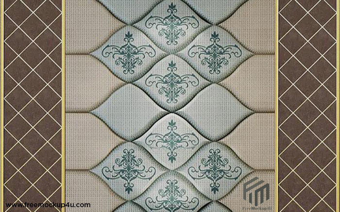 Plaster Line European Embossed Leather Soft Package 3D Background Wall
