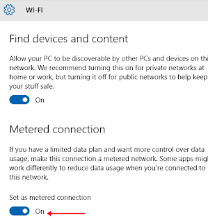 Windows Update off Metered Connection on