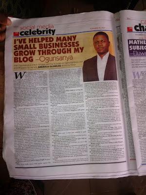 punch newspaper interview with nigerian blogger jide ogunsanya