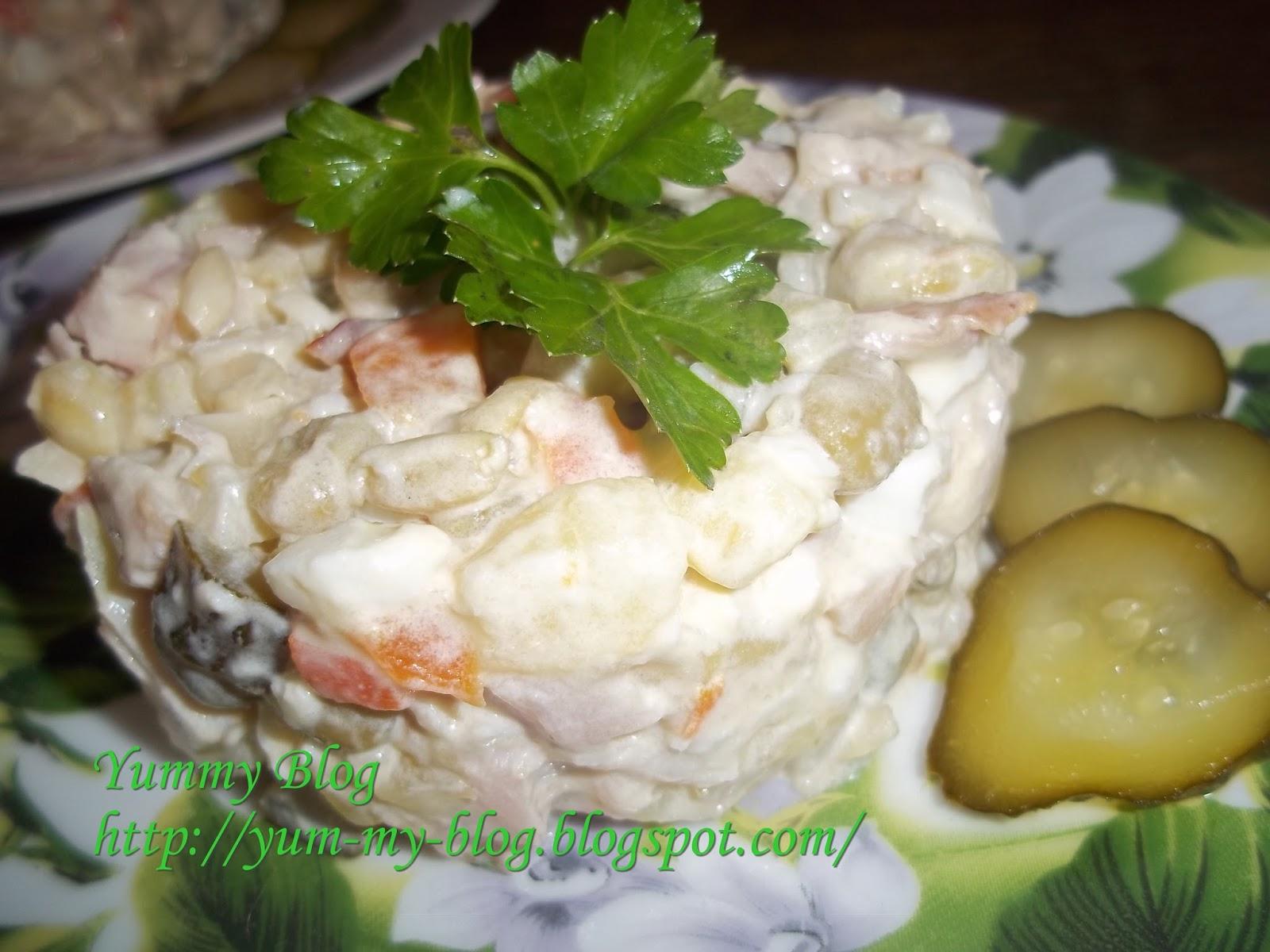 салат 1 января рецепт с фото из курицы