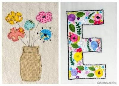 Cómo hacer apliques de tela o bordados con plantillas