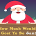 How Much Would it Cost to be Santa? #infographic