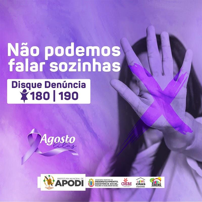 A campanha Agosto Lilás foca na conscientização pelo fim da violência contra mulher.