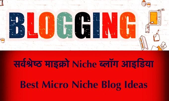 सर्वश्रेष्ठ ब्लॉग आइडिया जो 2021 में सफल हो सकते हैं | 12 Best Micro Niche Blog Ideas in 2021 in Hindi