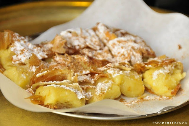 'Bougatsa' - a delicious traditional sweet pastry