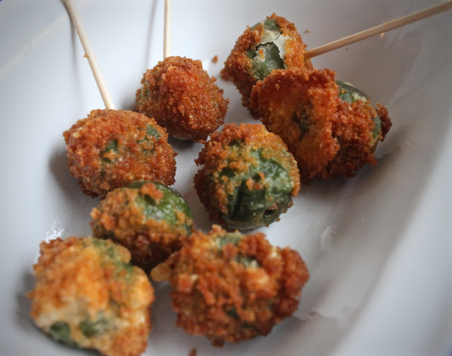 Deep Fried Blue Cheese Stuffed Green Olives Recipe