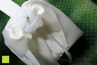 Schleife: Runde Elfenbein Satin bowknot Hochzeit Blumenmädchen Korb Blumenkinderkörbchen