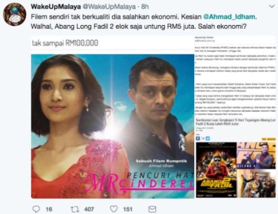 """Ahmad Idham Gelar Pengkritik """"Loser"""" Gara-Gara Filem Kurang Sambutan"""