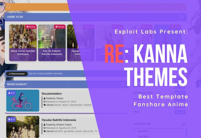 Re:Kanna - Template Blogger Fanshare Anime