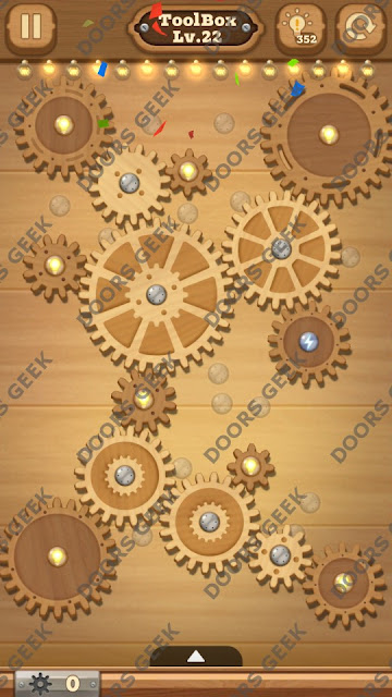 Fix it: Gear Puzzle [ToolBox] Level 22 Solution, Cheats, Walkthrough for Android, iPhone, iPad and iPod