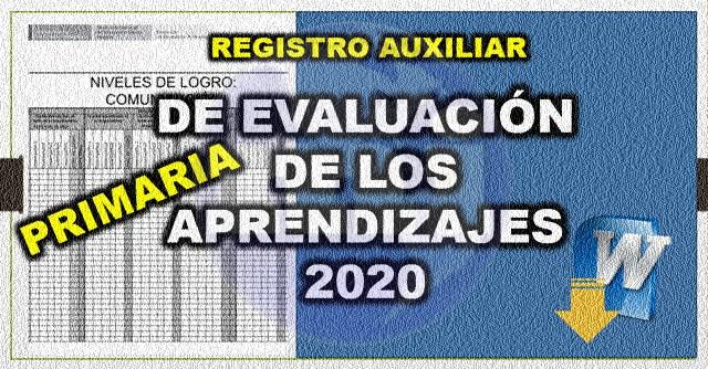Registro Auxiliar 2020 para primaria