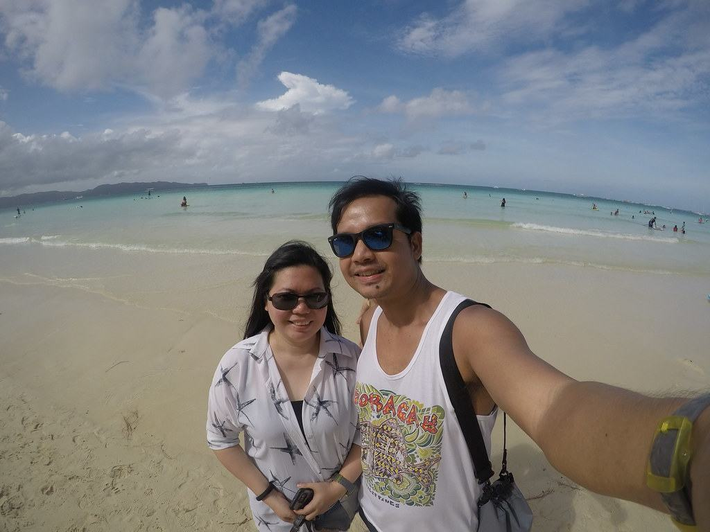 Exploring Boracay's white beach