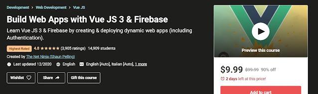 Build Web Apps with Vue JS 2 & Firebase