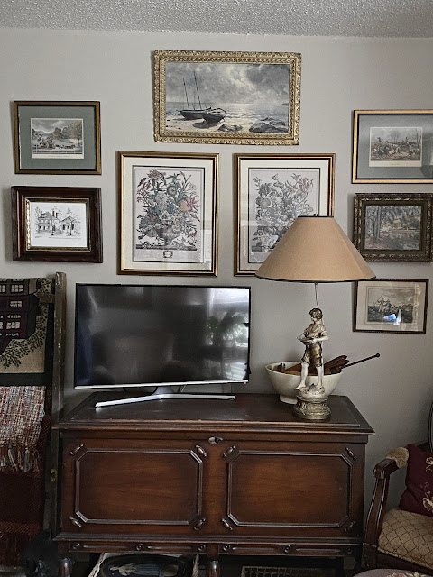 English cottage decor gallery wall