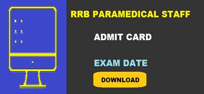 RRB Paramedical Staff