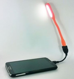 Connect USB Selfie Flash LED Light with your Android Phone