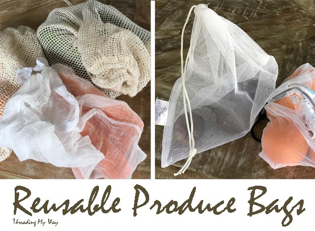 Comparison of the four different reusable produce bags I own ~ Threading My Way
