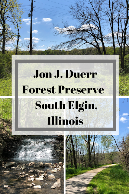 Jon J. Duerr Forest Preserve Waterfall and Hike  in South Elgin, Illinois