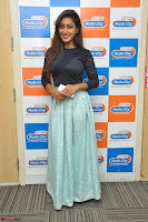Shravya in skirt and tight top at Vana Villu Movie First Song launch at radio city 91.1 FM ~  Exclusive 10.JPG
