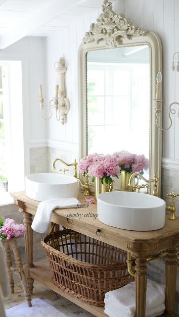 French cottage bathroom vanity how to get the look - Country french bathroom vanities ...